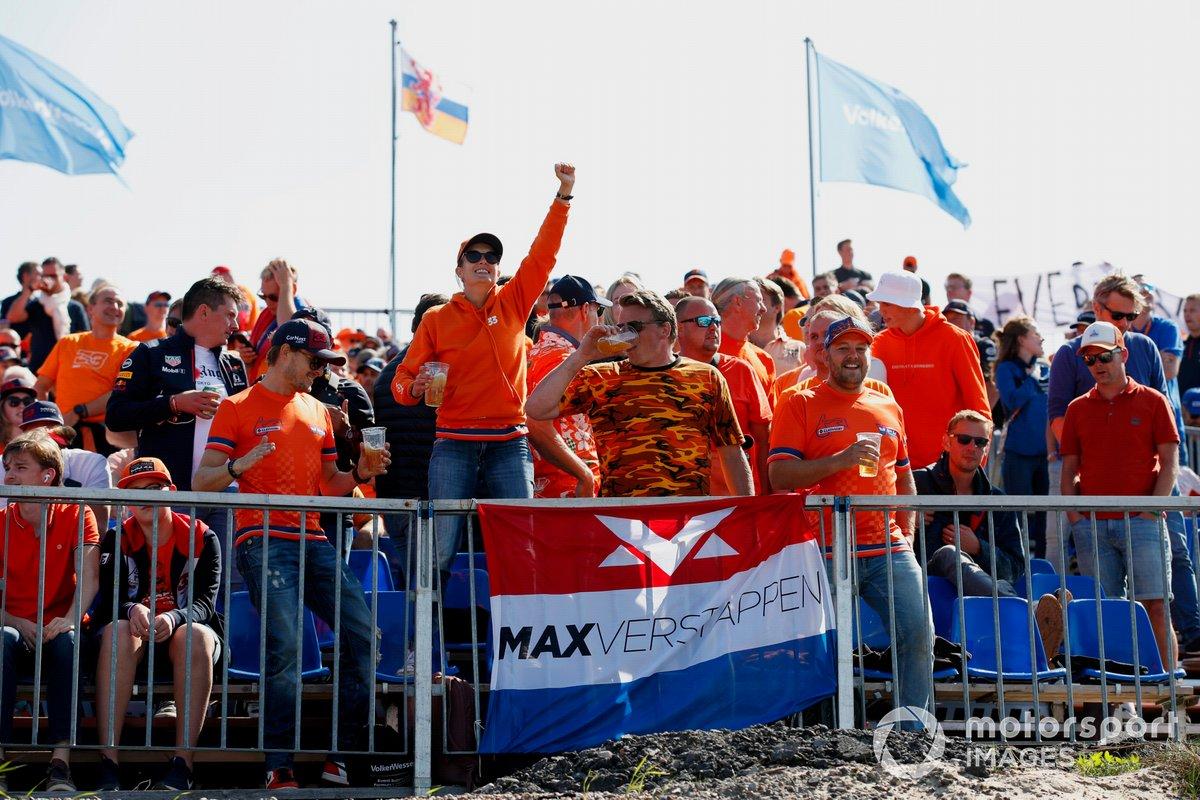 Fans of Max Verstappen, Red Bull Racing, in the grandstands