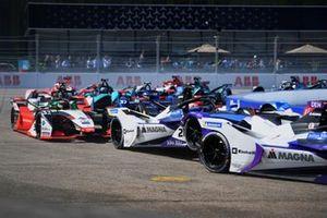 Maximilian Gunther, BMW i Andretti Motorsport, BMW iFE.21, Rene Rast, Audi Sport ABT Schaeffler, Audi e-tron FE07, Andre Lotterer, Porsche, Porsche 99X Electric
