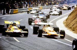 Renn-Action beim GP Frankreich 1970 in Clermont-Ferrand