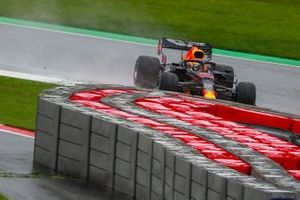 Max Verstappen, Red Bull Racing RB16 going side ways