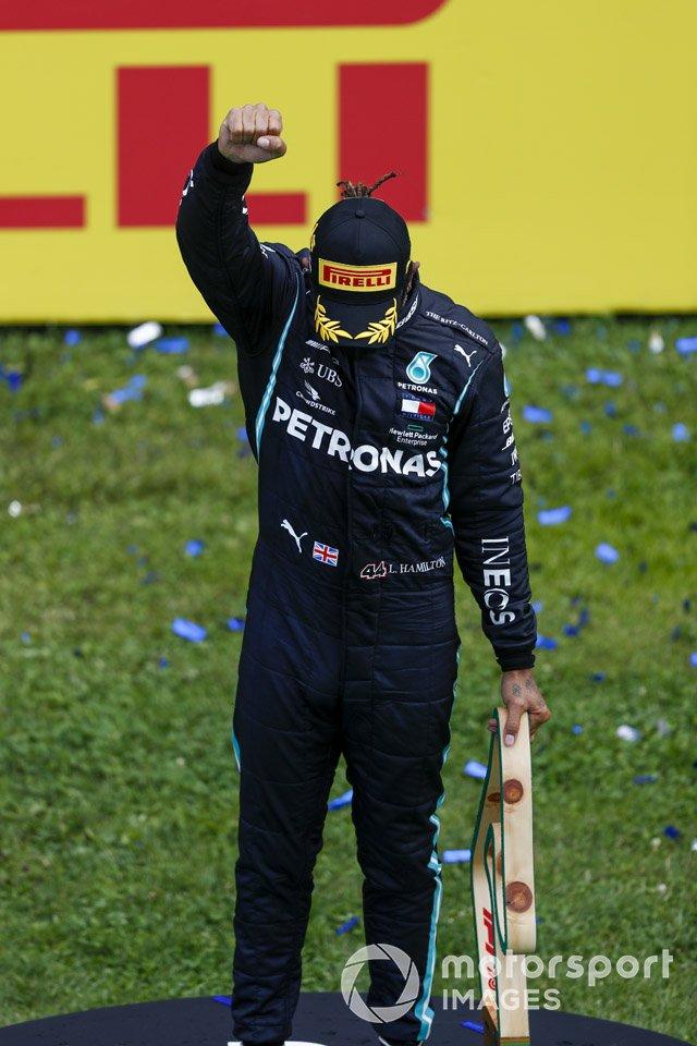 Race winner Lewis Hamilton, Mercedes-AMG
