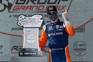 Scott Dixon, Chip Ganassi Racing Honda, viert de overwinning