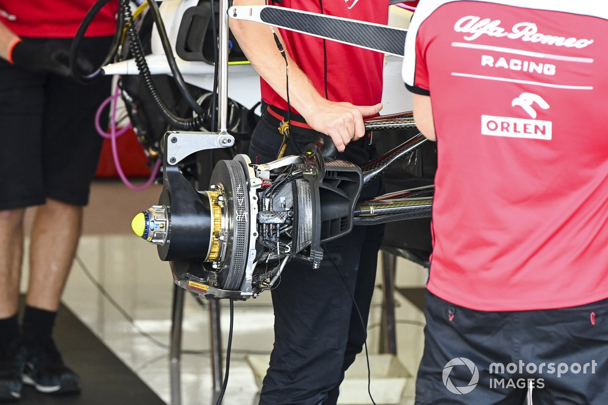 Front brakes of Alfa Romeo Racing C39