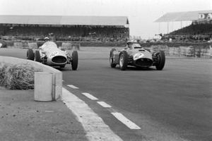 Louis Rosier, Maserati 250F, battles with Peter Collins, Lancia D50