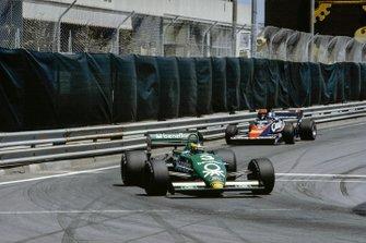 Michele Alboreto, Tyrrell 011 Ford, Derek Warwick, Toleman TG183B Hart