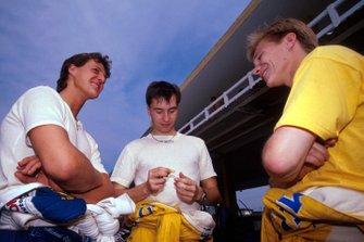 Michael Schumacher, Heinz-Harald Frentzen, Mika Salo
