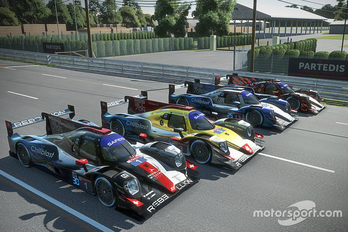 Alineación de Rebellion Williams Esport Oreca 07 LMP2