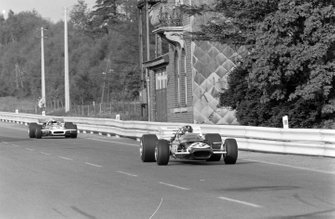 Graham Hill, Lotus 49C Ford, Jo Siffert, March 701 Ford