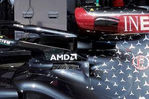 Detalle de refrigeración del Mercedes F1 W11