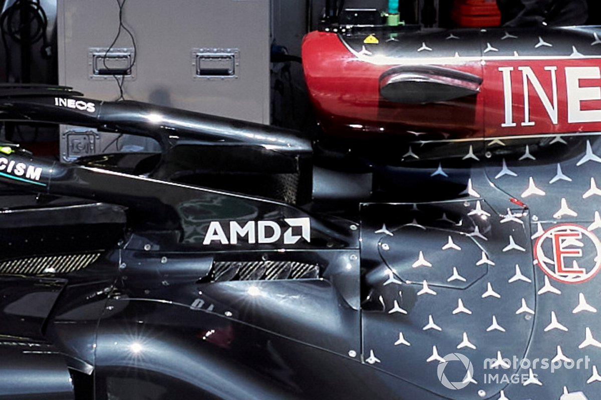 Mercedes F1 W11 cooling detail