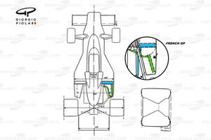 McLaren M23 top view French GP
