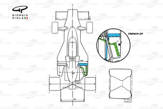 McLaren M23, вид сверху, Гран При Франции