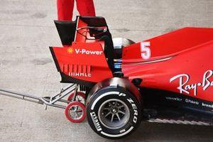 Rear wing detail of the Sebastian Vettel Ferrari SF1000