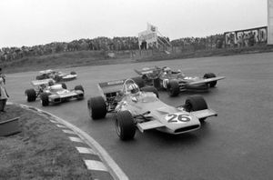 Denny Hulme, McLaren M19A Ford, Nanni Galli, March 711 Ford, Graham Hill, Brabham BT34 Ford