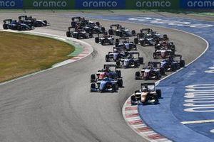 Alexander Peroni, Campos Racing , Matteo Nannini, Jenzer Motorsport, Richard Verschoor, MP Motorsport e Oscar Piastri, Prema Racing