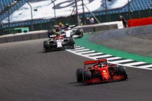 Sebastian Vettel, Ferrari SF1000, Antonio Giovinazzi, Alfa Romeo Racing C39, and Pierre Gasly, AlphaTauri AT01