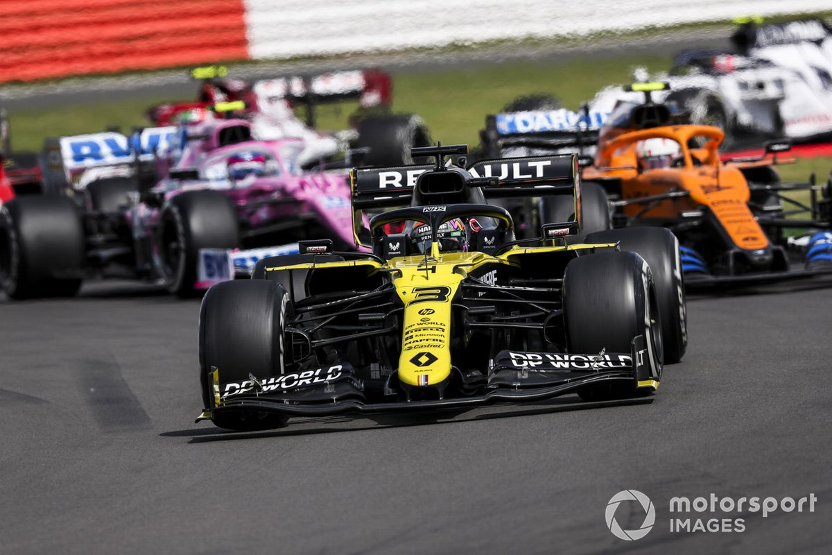 Daniel Ricciardo, Renault F1 Team R.S.20, Lando Norris, McLaren MCL35, Lance Stroll, Racing Point RP20, Sebastian Vettel, Ferrari SF1000