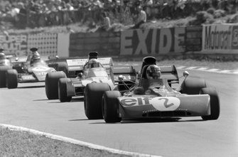 François Cevert, Tyrrell 002 Ford, Mike Hailwood, Surtees TS9B Ford y Ronnie Peterson, March 721G Ford