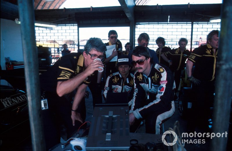 Peter Warr, Elio de Angelis and Nigel Mansell