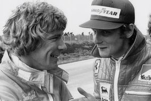 Niki Lauda with James Hunt
