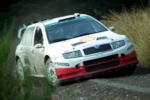 Colin McRae tests the Skoda Fabia WRC05