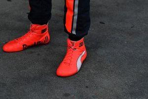 El calzado de Max Verstappen, Red Bull Racing