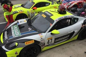 #47 Matt Travis and Jason Hart, Nolasport, Porsche 718 Cayman CS MR