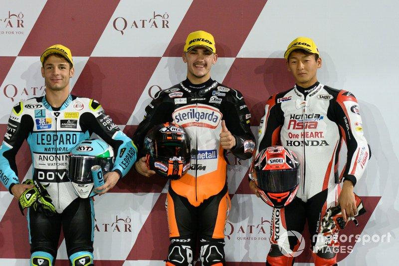 Top 3 Qualifiche: Lorenzo Dalla Porta, Leopard Racing, Aron Canet, Max Racing Team, Kaito Toba, Honda Team Asia