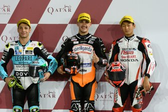 Top 3 after QualifyingLorenzo Dalla Porta, Leopard Racing, Aron Canet, Max Racing Team, Kaito Toba, Honda Team Asia