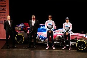 Andrew Green, directeur technique, Otmar Szafnauer, team principal, Lance Stroll, Racing Point F1 Team, Lance Stroll, Racing Point F1 Team et Sergio Perez, Racing Point F1 Team