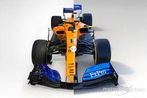 McLaren MCL33 vs. MCL34 comparison