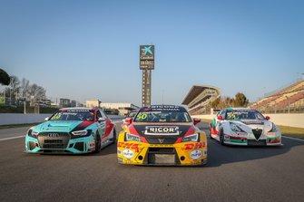 Jean-Karl Vernay, Leopard Racing Team Audi Sport Audi RS 3 LMS, Tom Coronel, Comtoyou DHL Team CUPRA Racing CUPRA TCR, Ma Qing Hua, Team Mulsanne Alfa Romeo Giulietta TCR