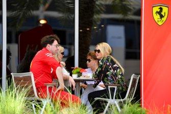 Mattia Binotto, Team Principal Ferrari, with Corinna Schumacher