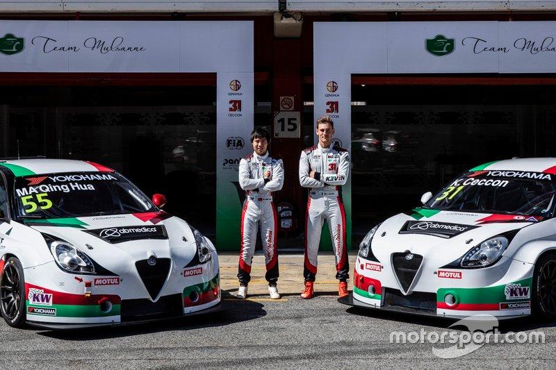 Ma Qing Hua, Team Mulsanne Alfa Romeo Giulietta TCR, Kevin Ceccon, Team Mulsanne Alfa Romeo Giulietta TCR