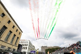Flyover before the race