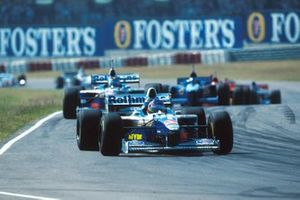 Jacques Villeneuve, Williams and Heinz-Harald Frentzen, Williams