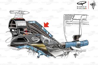 McLaren MP4/30 detalle de intercooler