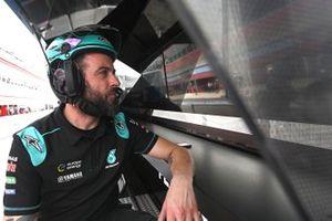 Petronas Yamaha SRT mechanic at work