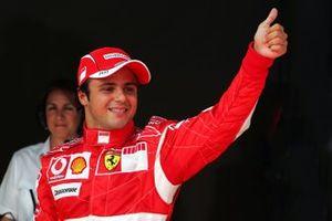 Ganador de la pole Felipe Massa, Ferrari