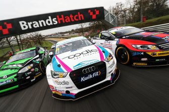 Sam Osborne, Excelr8 Motorsport MG, Jake Hill, Trade Price Cars Audi and Sam Tordoff, AMD Tuning Honda Civic