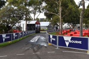 Melbourne branding in the Albert Park paddock