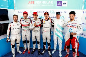 Sam Bird, Envision Virgin Racing,Daniel Abt, Audi Sport ABT Schaeffler, Sébastien Buemi, Nissan e.Dams, Stoffel Vandoorne, HWA Racelab, Pascal Wehrlein, Mahindra Racing, after Lucas di Grassi, Audi Sport ABT Schaeffler takes pole position in super pole