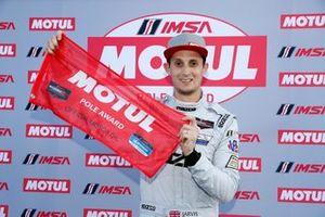 Pole Award winner #77 Mazda Team Joest Mazda DPi, DPi: Oliver Jarvis