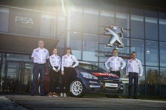 Laurent Guyot, Veronica Engan, Catie Munnings, Yohan Rossel, Benoȋt Fulcrand, Peugeot Rally Academy, Peugeot 208 R2