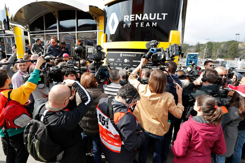 I media nel Renault F1 Team