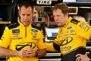 Brad Keselowski, Team Penske, Ford Mustang Alliance Truck Parts and crew chief Paul Wolfe