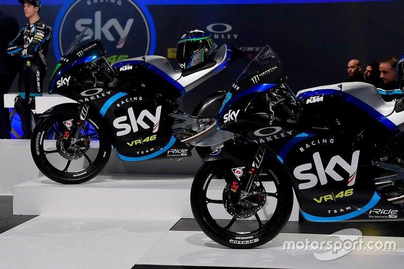 Le moto del Team Sky Racing Team VR46 Moto3
