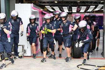 Pit stop team della Racing point
