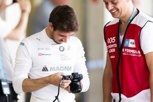 Antonio Felix da Costa, BMW I Andretti Motorsports, takes a photo