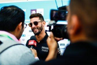 Jose Maria Lopez, GEOX Dragon Racing talks to the press